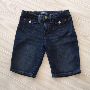 Girls Old Navy Denim Jean Bermuda Shorts Size 14